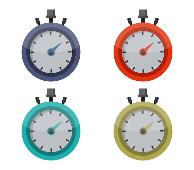 Stopwatch set on white