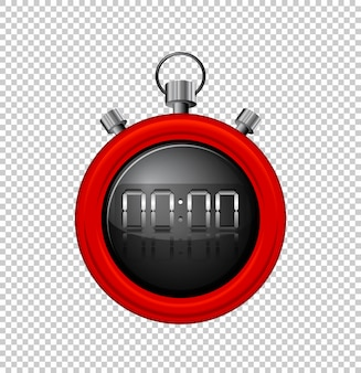 Stopwatch with red border