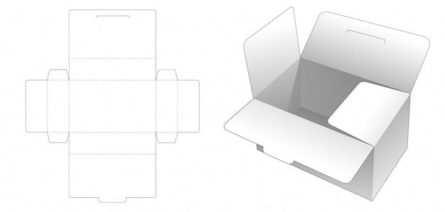 Ящик для хранения высечки шаблон