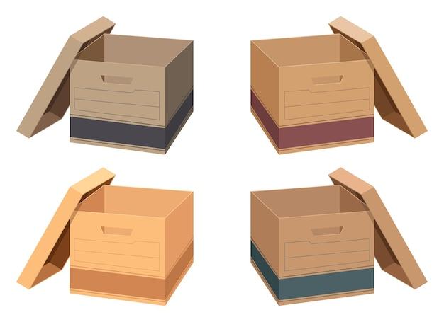 Storage box vector design illustration isolated on white background