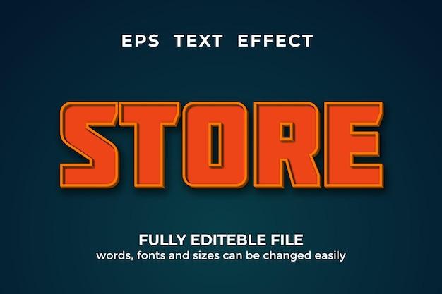 3d 스타일 편집 가능한 텍스트 효과 저장 premium vector