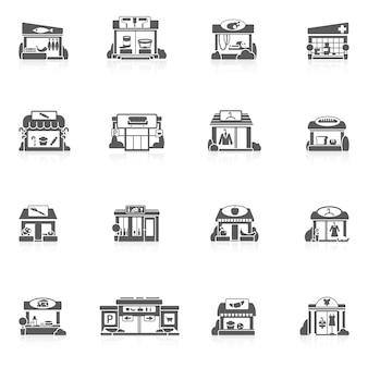 Store buildings set
