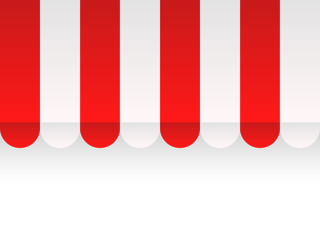 Store canopy seamless background vector shop cover