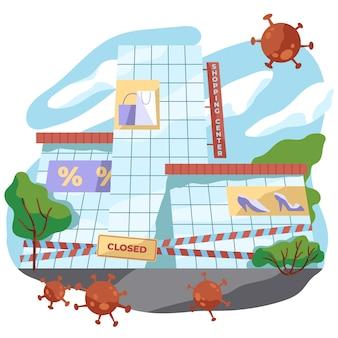 Store closed because of pandemic virus