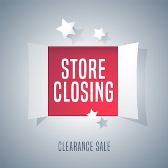 Store closing sale  illustration, background