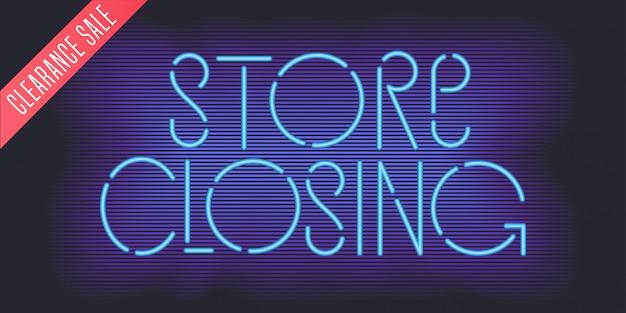 Магазин закрытие вектор баннер, иллюстрация