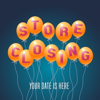 Store closing vector illustration