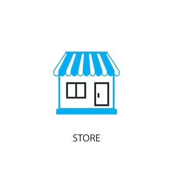 Store icon. logo element illustration. store symbol design from 2 colored collection. simple store concept. can be used in web and mobile.