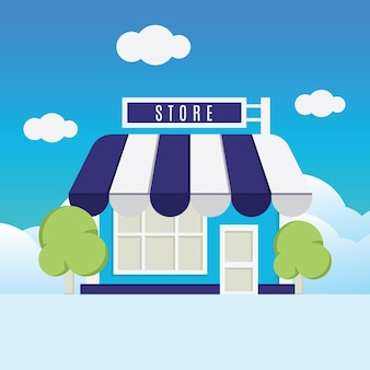 Store illustration vector