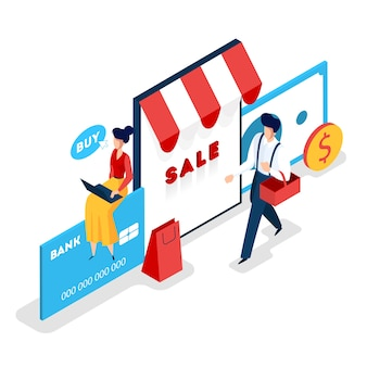 Store online web banner. searching goods in online shop