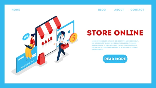 Store online web template. searching goods in online shop