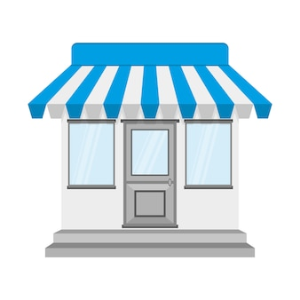 Store or shop icon.  illustration