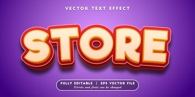 Store text effect, editable text style