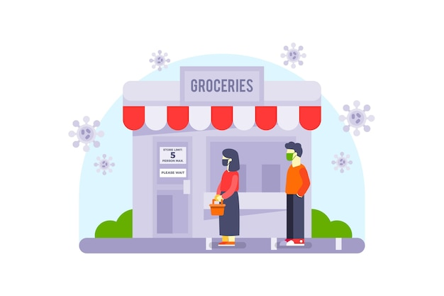 Store with limited number of persons for protection