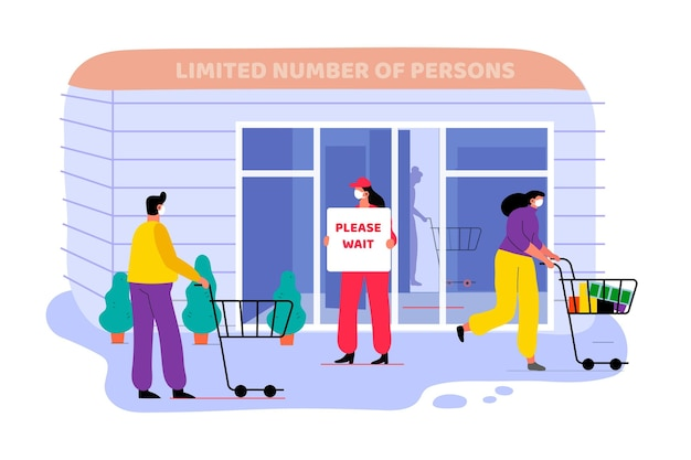Store with limited number of persons