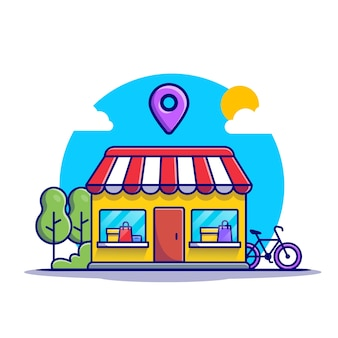 Store with location sign