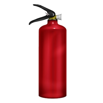 Stored-pressure, handheld fire extinguisher with red gallon