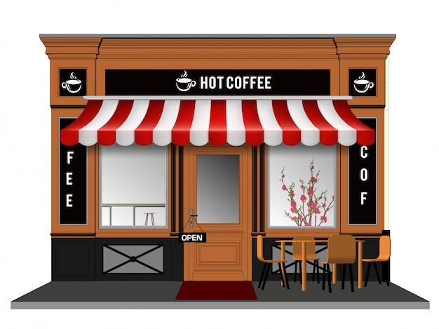 Storefront vector