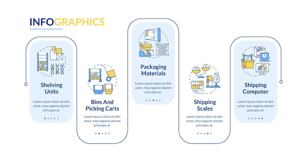 Storehouse infographic template illustration