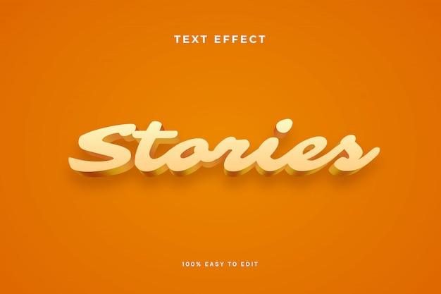 Stories 3d text effect
