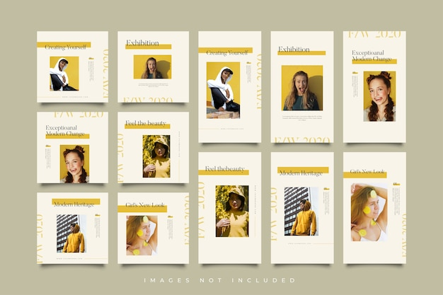 Stories and post yellow collection