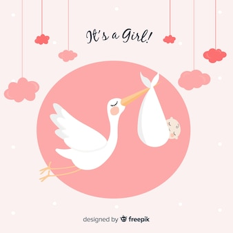 Stork baby shower cards collection