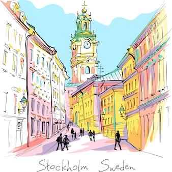 Церковь storkyrkan в стокгольме, швеция