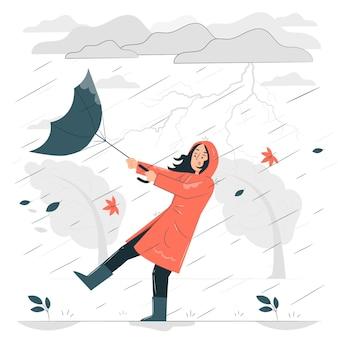 폭풍 개념 그림