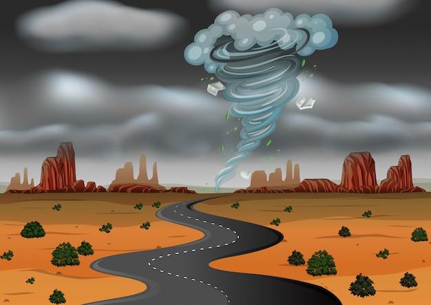 A storm hit the desert