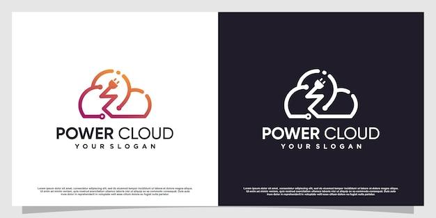 創造的な電気の概念と嵐のロゴプレミアムベクトルパート2