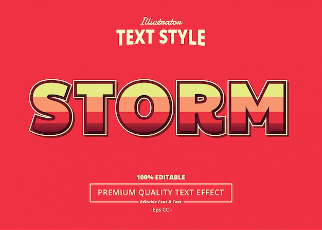 Storm text effect