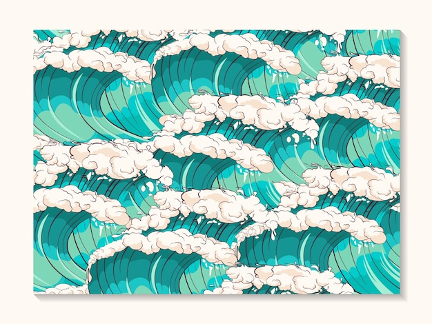 嵐の波のシームレスなパターン