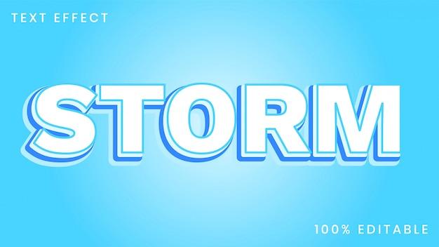Шаблон стиля эффекта текста storm