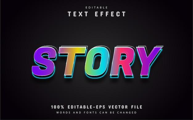 스토리 텍스트, 편집 가능한 다채로운 텍스트 효과