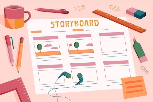 Storyboard concept illustration