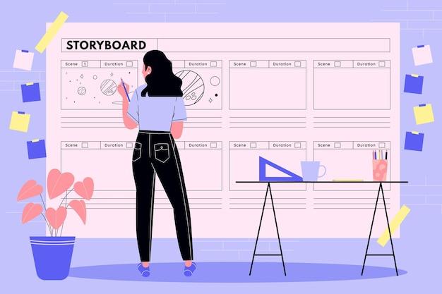 Concetto di illustrazione dello storyboard