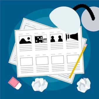 Storyboard process illustration
