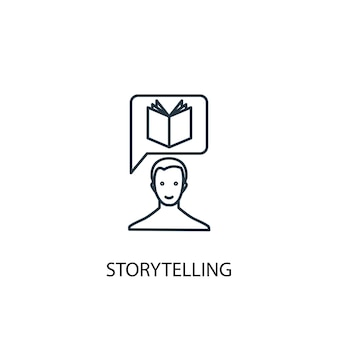 Storytelling concept line icon. simple element illustration. storytelling concept outline symbol design. can be used for web and mobile ui/ux