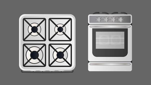 Stove in a realistic style. modern oven for the kitchen. isolated. vector.
