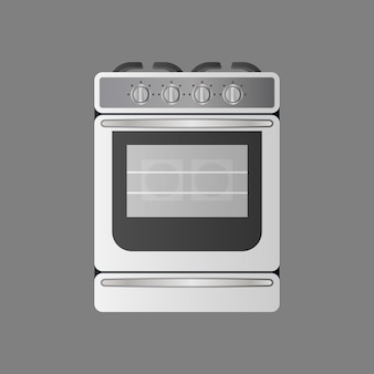 Stove in a realistic style. modern oven for the kitchen. isolated