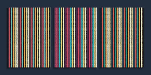 レトロな色の直線の背景