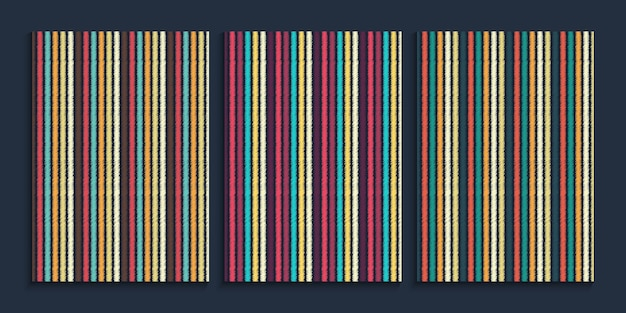 Straight lines background in retro color