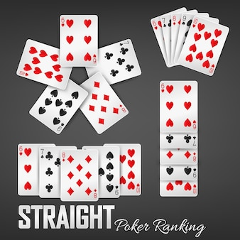 Straight poker ranking casino sets