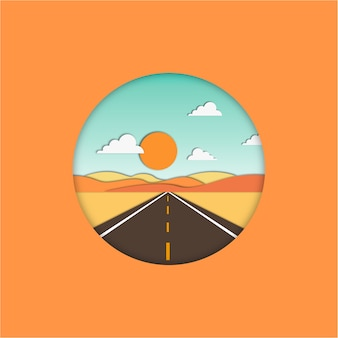 Straight road flat