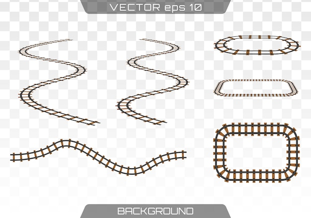 Straight tracks decoration