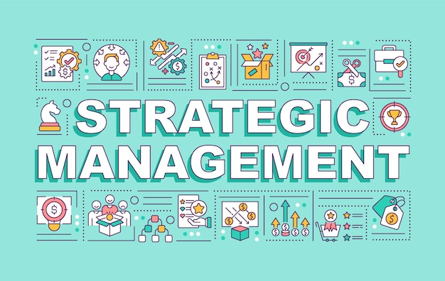 Баннер концепции слова стратегического управления
