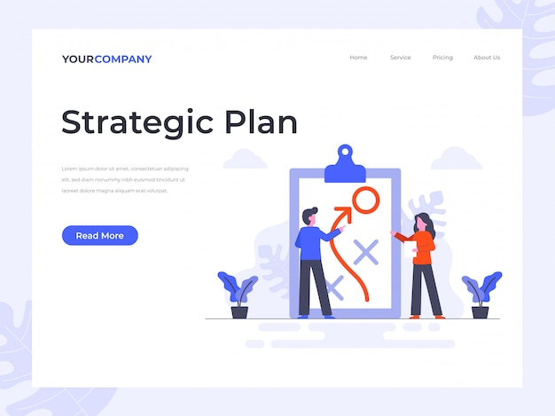 Strategic plan landing page
