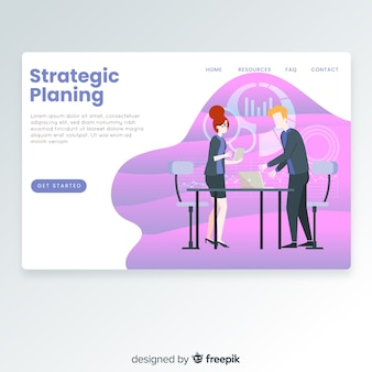 Strategic planing landing page
