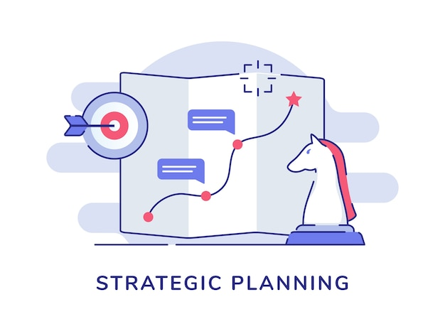 Strategic planning route pointer map