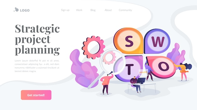 Strategic project planning landing page